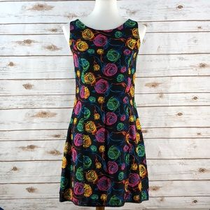 Lilly Pulitzer Black / Floral Print Silk Dress